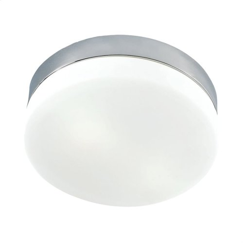 Disc LED Medium Flushmount Opal glass / Satin Nickel finish