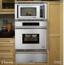 "Classic 27"" Millennia Single Wall Oven with Convection in Black Glass"