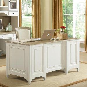 RiversideMyra - Executive Desk - Natural/paperwhite Finish