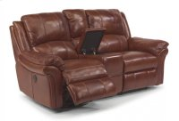 Dandridge Leather Power Reclining Loveseat with Console Product Image