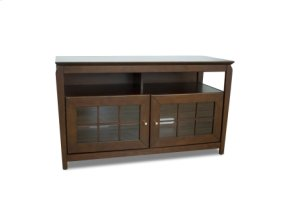 "48"" Wide Credenza, Solid Wood and Veneer In A Walnut Finish, Accommodates Most 52"" and Smaller Flat Panels"