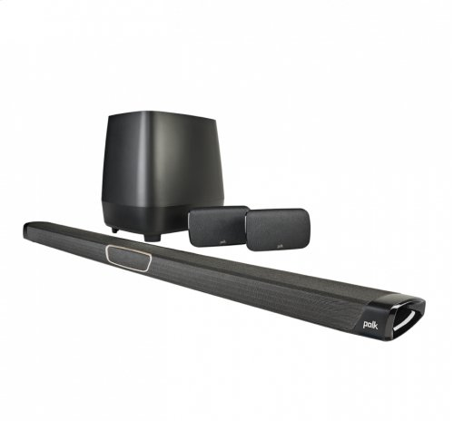 Maximum-Performance True 5.1 Home Theater Sound Bar and Wireless Rear Surround Sound System in Black