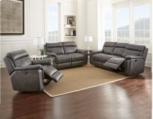 "Dakota Recliner Sofa Gray, 87""x40""x40"""