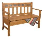 Sedona Bench W/ Storage/wooden Seat Product Image