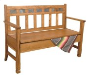 Sedona Bench W/ Storage/wooden Seat Product Image