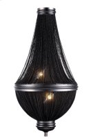 1210 Paloma Collection Wall Sconce W:13.5in H:23.5in Ext: 6.5in Lt:3 Dark Grey Finish Product Image
