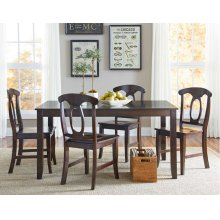 Leg Table W/4 Chairs