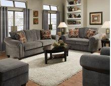 2800 - Dynasty Charcoal Sofa