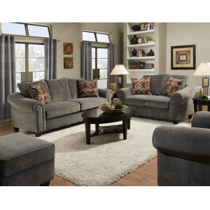 American Furniture Manufacturing2800 - Dynasty Charcoal Sofa