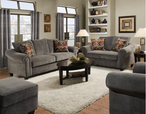2800 - Dynasty Burgundy Sofa