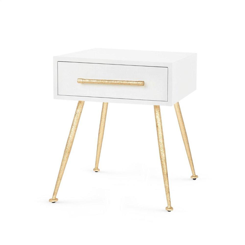 Arno 1-Drawer Side Table, White