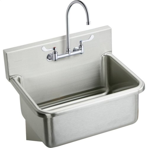 "Elkay Stainless Steel 25"" x 19.5"" x 10-1/2"", Wall Hung Single Bowl Hand Wash Sink Kit"