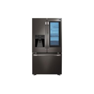 LG STUDIO 24 cu. ft. Smart wi-fi Enabled InstaView Door-in-Door® Counter-Depth Refrigerator - BLACK STAINLESS STEEL