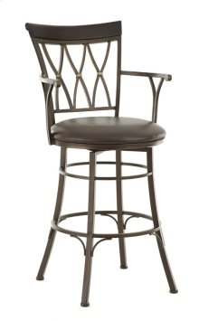 "Bali Backless Swivel Bar Chair, 18""x18""x30"""