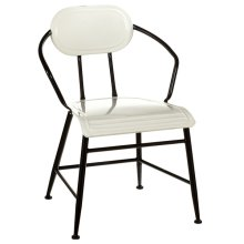 Black & White Enamel Chair