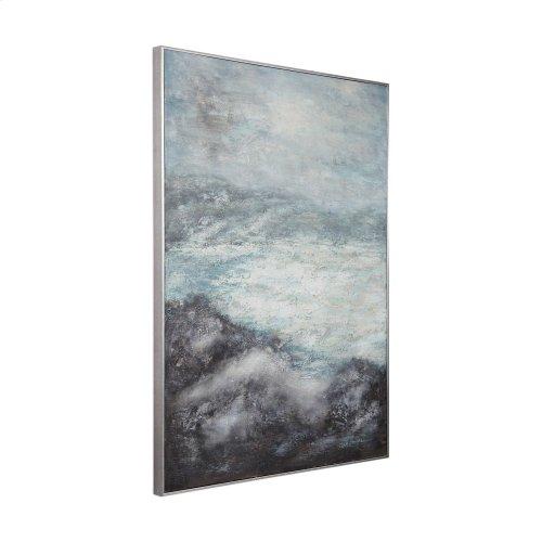 Azure Altitudes Hand Painted Canvas