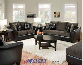 3200 - New Era Black Sofa
