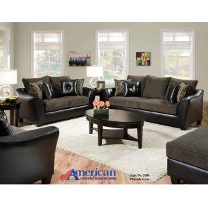 American Furniture Manufacturing3200 - New Era Black Sofa