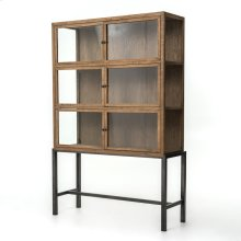 Drifted Oak Finish Spencer Curio Cabinet