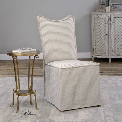 Lenore Armless Chairs, Oatmeal, 2 Pe