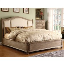 Coventry - Queen Sleigh Footboard With Slats - Weathered Driftwood Finish