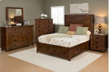 Coolidge Corner 4 Piece Queen Bedroom Set: Bed, Dresser, Mirror, Nightstand