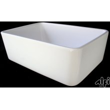 """Biscuit 23"""" Fireclay Single Bowl Farmhouse Kitchen Sink"""