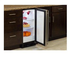 "15"" All Refrigerator - Marvel Refrigeration - Solid Panel Ready Overlay Door - Integrated Left Hinge"