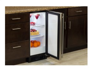 "15"" All Refrigerator - Marvel Refrigeration - Black Door - Left Hinge"