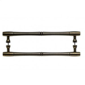 Nouveau Bamboo Door Pull Back to Back 12 Inch (c-c) - German Bronze