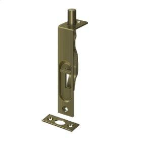 """4"""" Flush Bolt, HD - Antique Brass"""