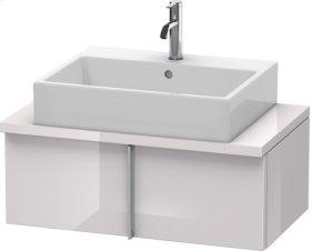 Vero Vanity Unit For Console Compact, White Lilac High Gloss Lacquer