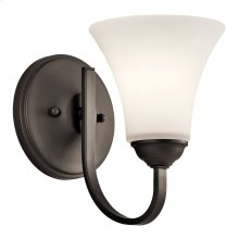 Keiran 1 Light Wall Sconce with LED Bulb Olde Bronze®