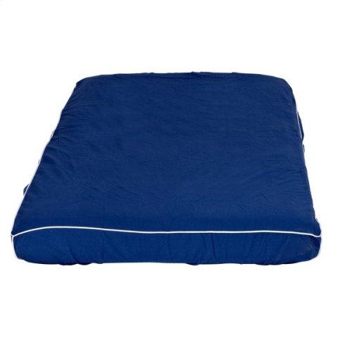 Mattress Cover (Twin) : Blue/White