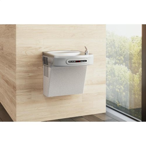 Elkay Cooler Wall Mount ADA Hands-Free Non-Filtered, Non-Refrigerated Light Gray Granite