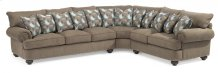 Patterson Fabric Sectional with Nailhead Trim