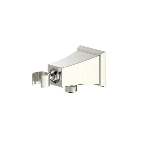 Hand Shower Wall Bracket With Outlet Leyden Series 14 Satin Nickel