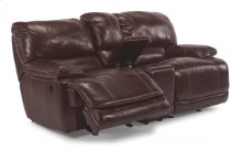 Belmont Leather Power Reclining Loveseat with Console