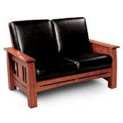 Aspen Loveseat Recliner, Fabric Cushion Seat