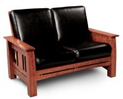 Aspen Loveseat Recliner, Leather Cushion Seat Product Image