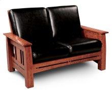 Aspen Loveseat Recliner, Leather Cushion Seat