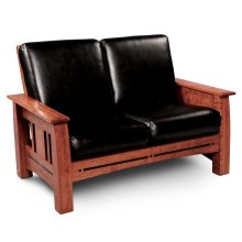 Aspen Loveseat Recliner, Leather Cushion Seat