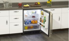 "24"" All Refrigerator ADA Height (Marvel Low Profile) - Smooth White Door, Left Hinge"