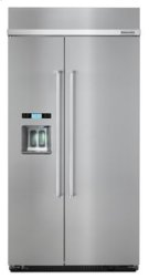 25.0 cu. ft 42-Inch Width Built-In Side by Side Refrigerator with PrintShield™ Finish - Stainless Steel Product Image