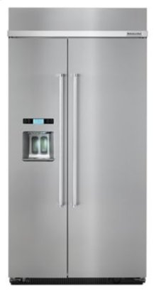 25.0 cu. ft 42-Inch Width Built-In Side by Side Refrigerator with PrintShield™ Finish - Stainless Steel
