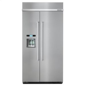 KITCHENAID25.0 cu. ft 42-Inch Width Built-In Side by Side Refrigerator with PrintShield Finish - Stainless Steel