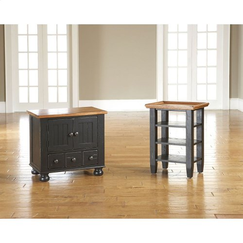 Attic Heirlooms Accessory Table, Two-Tone