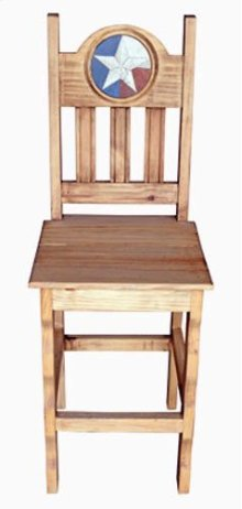 Lone Star Marble Wood Barstool