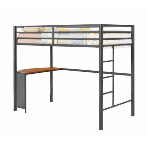 Metal Workstation Twin Loft Bed