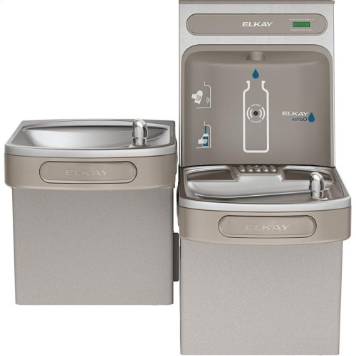 Elkay EZH2O Bottle Filling Station & Versatile Bi-Level ADA Cooler, Non-Filtered 8 GPH Light Gray